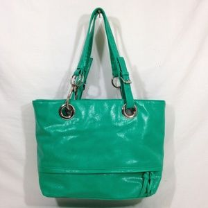 Braciano Large Green Leather Hand Bag Purse